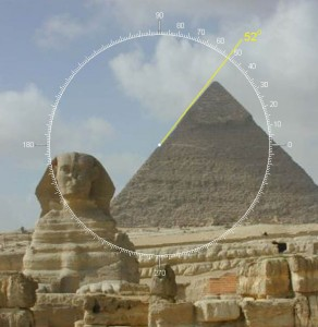 Golden Ratio Pyramid of Gizeh, Egypt