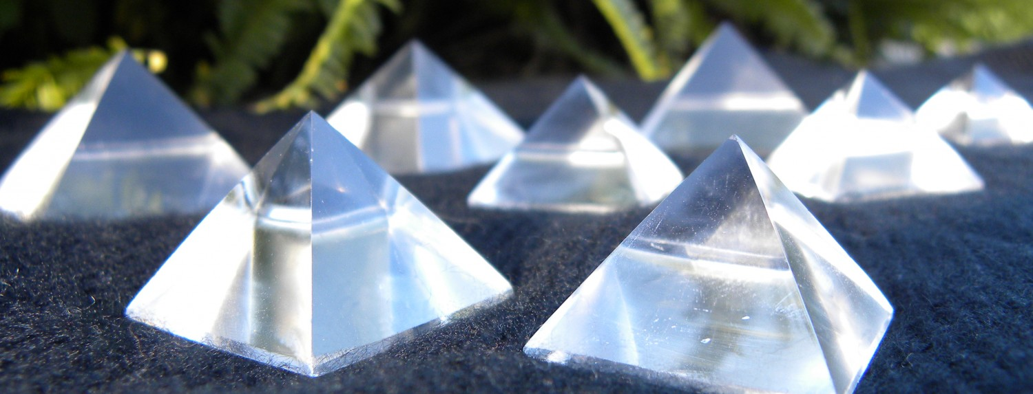 Golden Ratio Quartz Pyramids